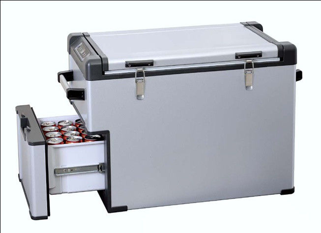 63L Portable Saving-energy Car Fridge Freezer With Circuit Protection CE RoHS Certificated,Drawer Type Car Refrigerator