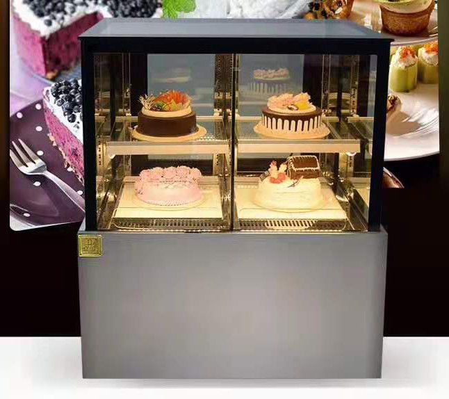 Right Angled Fan Cooling Refrigerated Cake Display Cabinets Low Consumption with 900mm Length