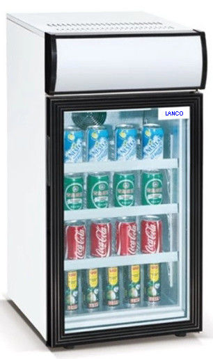 50L Saving-energy Mini Display Fridge / Small Showcase / Countertop Mini Display Cooler with Advertising Light Box